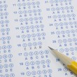 Exam on scantron - Foto de Stock