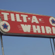 Tilt-A-Whirl Sign — Stock Photo