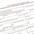 Stock Photo: Voter registration form