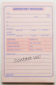Contact Us message pad. — Foto de Stock