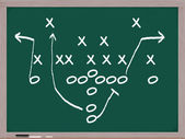A football play on a chalkboard. — Stock Photo