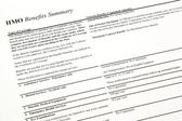 HMO Benefits Summary — Stock Photo