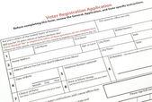 Voter registration form — Stock Photo