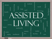 Assisted Living Concept on a blackboard — Stock Photo