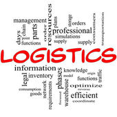Logistics Concept in red and black — Stock Photo