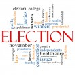 Election Concept Word Cloud - Stock Photo