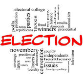 Election Concept in red and black — Stock Photo
