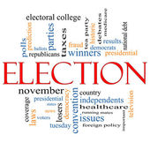 Election Concept Word Cloud — Stock Photo