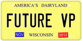 Future VP License Plate — Stock Photo