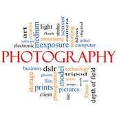 Photography word cloud concept — Stock Photo