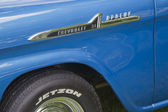 1958 Chevy Apache quarter panel close up — Stock Photo