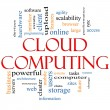 Stock Photo: Cloud Computing Word Cloud Concept