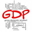GDP Word Cloud Concept in Red & Black — Stock Photo #12371382