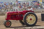 Red & Yellow Cockshutt Tractor — Stock Photo