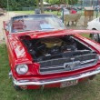 Red 1965 Foird Mustang Convertible - Stock Photo