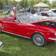 ������, ������: Red 1965 Foird Mustang Convertible Side View