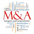 M & (Mergers and Acquisitions) Word Cloud Concept — Stock Photo #12384640