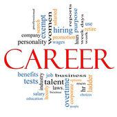 Career Word Cloud Concept — Stock Photo
