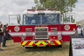 Pierce Fire Truck marked US Navy Pearl Harbor Front View — Stock Photo