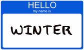 Winter Name Tag — Stock Photo