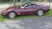 Mor 1993 chevy corvette — Stok fotoğraf