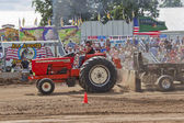 Red Allis Chalmers Tractor going by — Foto Stock