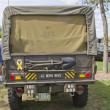 Vintage US Army Truck Back View — Stock Photo #12402667