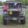 Vintage US Army Truck Front View — Stock Photo #12402674
