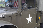 Vintage US Army Truck Door Close Up — Stock Photo