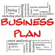 Business Plan Word Cloud in Red &amp;amp; Black - Stock Photo