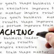 Hand Writing Coaching Concept — Stock Photo #12411988