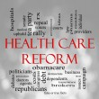 Foto Stock: Bokeh Health Care Reform Word Cloud