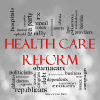 Bokeh Health Care Reform Word Cloud - Stock Photo