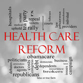 Bokeh Health Care Reform Word Cloud — Stock Photo