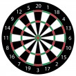 Dartboard — Stock Vector #11550864