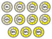 Barra de progreso de cargador redondo — Vector de stock