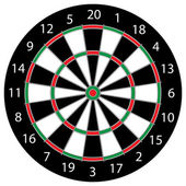Dartboard — Stock Vector