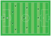 4-3-3 soccer scheme — Stock Vector