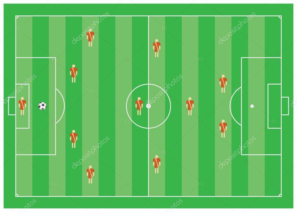 4-3-1-2 Футбол тактические
