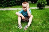 Helpless boy — Stock Photo