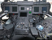 Helicopter cockpit — Stock Photo