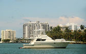 Yacht in Miami, Florida — Stock Photo