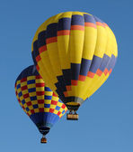 Colorful hot air balloons — Stok fotoğraf