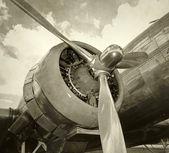 Gammal motor och propeller — Stockfoto