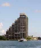 Catamaran in the waterways of Miami — Stock Photo