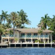 Luxury waterfront home in Florida - Foto de Stock