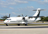 Modern turboprop airplane — Stock Photo