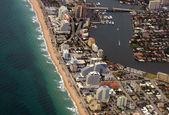 Fort Lauderdale Beach aerial view — Stock Photo