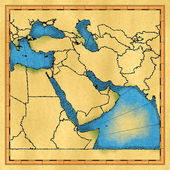 Middle East map — Stock Photo