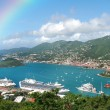 Постер, плакат: Rainbow over tropical island